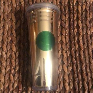 Starbucks Gold with Green Dot Tall insulated cup